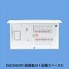 1次送り(100V)回路付住宅分電盤分電盤 単3 リミッタースペースあり 主幹ELB50A 回路数:10 + 2