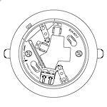 BVK4017:2線式確認灯付速結式感知器ベース埋込型(コネクタなし)
