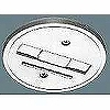 100Vダクトシステム(ショップライン)(スポットベース)(1コ用)(白)(2P15A125V)(送り端子付き)