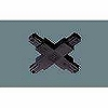 100Vダクトシステム(ショップライン)(ジョイナ+)(クロス)(黒)(2P15A125VE付)(フィードイン端子付)