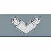 100Vダクトシステム(ショップライン)(ジョイナL)(エル)(右用)(シルバー)(2P15A125VE付)(フィードイン端子付)