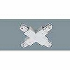100Vダクトシステム(ショップライン)(ジョイナ+)(クロス)(シルバー)(2P15A125VE付)(フィードイン端子付)