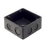 大型四角アウトレットボックス(ブラック)(スタットなし)(大浅型)(44)