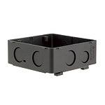 大型四角アウトレットボックス(ブラック)(3分スタット付)(大深型)(54)Barクイックシリーズ
