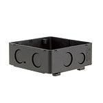 大型四角アウトレットボックス(ブラック)(スタットなし)(大深型)(54)Barクイックシリーズ