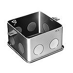 中型四角コンクリートボックス(鋼板製電気亜鉛めっき)(メガネ型)(54)