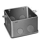 大型四角コンクリートボックス(鋼板製電気亜鉛めっき)(大ノック)(75)