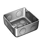 中型四角アウトレットボックス浅型(中浅型)(鋼板製電気亜鉛めっき)