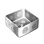 中型四角アウトレットボックス浅型(トロセーブ)(中浅型スタット付)(鋼板製電気亜鉛めっき)