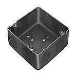 塗装中型四角アウトレットボックス浅型(中浅型メガネ型)(カチオン電着塗装仕上げ)(44)