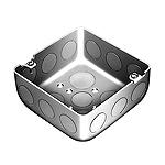 中型四角アウトレットボックス浅型(中浅型C19三ツ穴)(鋼板製電気亜鉛めっき)