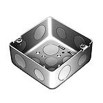 中型四角アウトレットボックス浅型(中浅型底面つめ付(アースボンド線取付用))(鋼板製電気亜鉛めっき)
