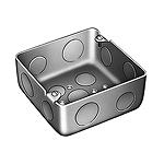 中型四角アウトレットボックス深型(中深型)(鋼板製電気亜鉛めっき)