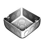 中型四角アウトレットボックス深型(中深型C19三ツ穴)(鋼板製電気亜鉛めっき)