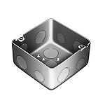 中型四角アウトレットボックス深型(中深型小ノック)(鋼板製電気亜鉛めっき)