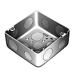 中型四角アウトレットボックス深型(中深型底面つめ付(アースボンド線取付用))(鋼板製電気亜鉛めっき)