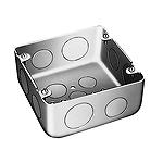 大型四角アウトレットボックス深型(大深型)(鋼板製電気亜鉛めっき)