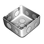 大型四角アウトレットボックス深型(大深型小ノック)(鋼板製電気亜鉛めっき)