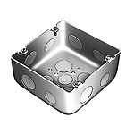 大型四角アウトレットボックス深型(大深型側面ノックアウト貫通型)(鋼板製電気亜鉛めっき)