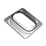 中型四角スイッチカバー(1コ用)(13ミリカバー)(鋼板製電気亜鉛めっき)