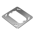 中型四角スイッチカバー(1コ用)(平カバー)(鋼板製電気亜鉛めっき)