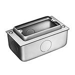 1コ用スイッチボックス(セーリスボックス)(カバー付)(鋼板製電気亜鉛めっき)