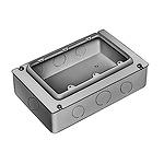 3コ用スイッチボックス(セーリスボックス)(カバー付)(鋼板製電気亜鉛めっき)