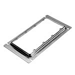 スイッチボックス用カバー(4コ用)(鋼板製電気亜鉛めっき)(13ミリカバー)