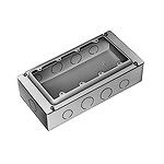 4コ用スイッチボックス(セーリスボックス)(カバー付)(鋼板製電気亜鉛めっき)