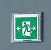 LED非常口・避難口誘導灯 防湿型・防雨型(HACCP兼用)/(一般型)(壁直付型)B級・BL形(20B形)片面型表示板セット(両矢印付)