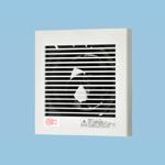 パイプファン 排気 プロペラファン 壁・天井取付角形格子ルーバー 耐湿仕様(浴室用) 適用パイプ径:φ100mm コード付