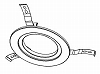 LEDEMX05021:LED非常照明埋込形用リニューアルプレートφ150