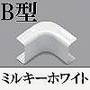 マサル工業:メタルエフモール付属品-イリズミ(B型)(ミルキーホワイト)