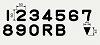 非常用照明器具階段用表示文字丸ゴシック体2号(0)