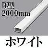 マサル工業:メタルモール(B型・2000mm・ホワイト)