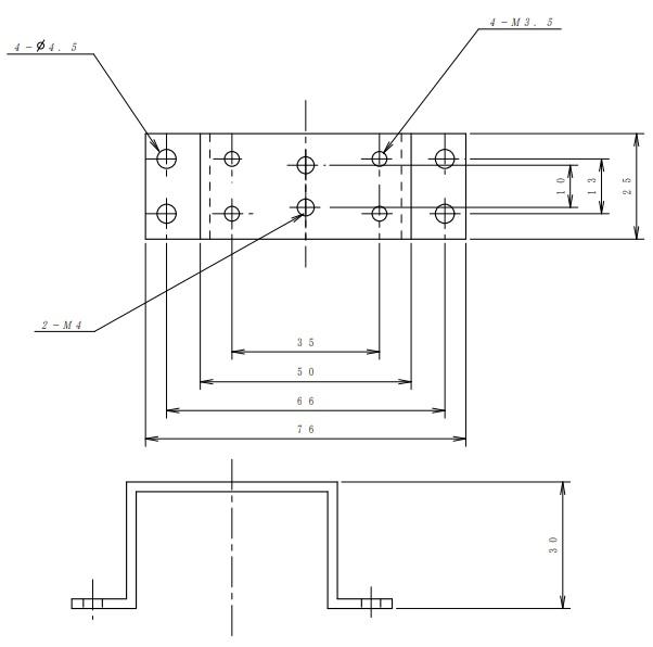 ヤマト通信工業 コの字金物H(高さ)=30mm