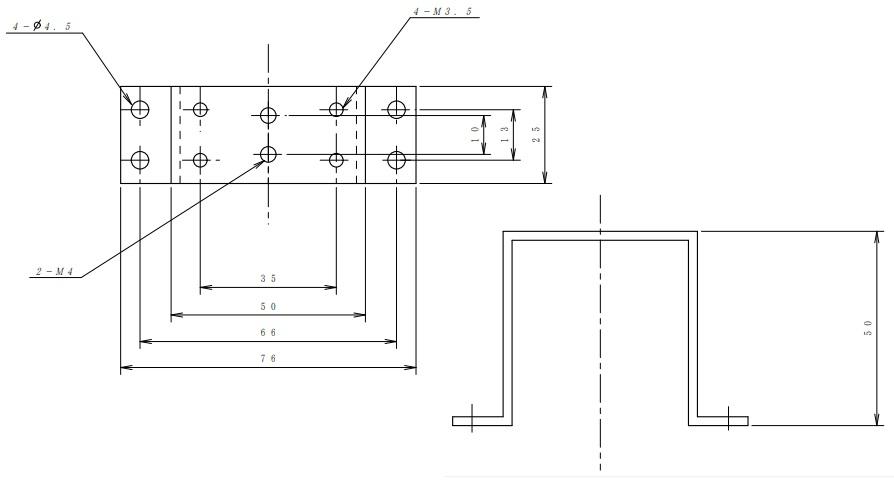 ヤマト通信工業 コの字金物H(高さ)=50mm