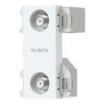 WCS3650CWK:アドバンスシリーズ 埋込高シールドテレビターミナル 2端子(10?2602MHz)(フィルタ付)(セラミックホワイト)