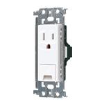 WTL11313W:アドバンスシリーズ 埋込アースターミナル付接地コンセント(金属枠付)(セラミックホワイト)