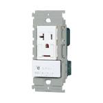 WTL193173W:アドバンスシリーズエアコン用埋込スイッチ付コンセント(簡易耐火プレート付)(マットホワイト)