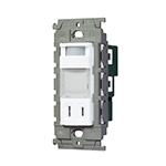 WTL4065W:アドバンスシリーズ埋込熱線センサ付ナイトライト(LED:電球色)(明るさセンサ・コンセント付)(セラミックホワイト)