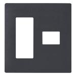 WTL7774H:アドバンスシリーズ 簡易耐火コンセントプレート4コ用 (3コ+1コ用)(マットグレー)