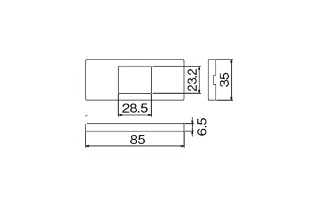WCF8401CW:Sプレート1コ用(セラミックホワイト)