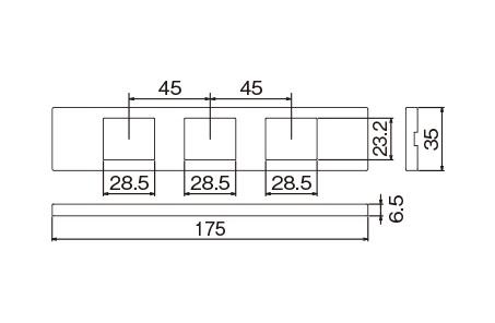 WCF8403CW:Sプレート3コ用(セラミックホワイト)