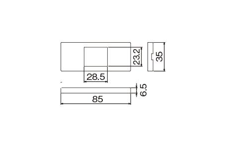 WCF8501B:Sプレート(マット仕上げ)1コ用ブラック