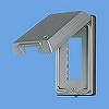 金属ガードプレート(3コ用)(取付枠付)