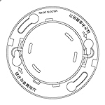BVK46071:確認灯付速結式感知器ベース埋込型(小型タイプ・コネクタ付)