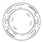 BVK46271:確認灯付速結式感知器ベース(3線式)埋込型(小型タイプ・コネクタ付)