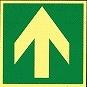 RNYK-13:蓄光誘導標識(避難口床面設置型)(粘着シールタイプ)
